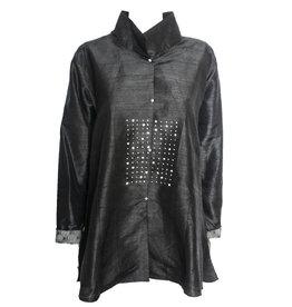Deborah Cross Deborah Cross Dot Block Shirt - Black