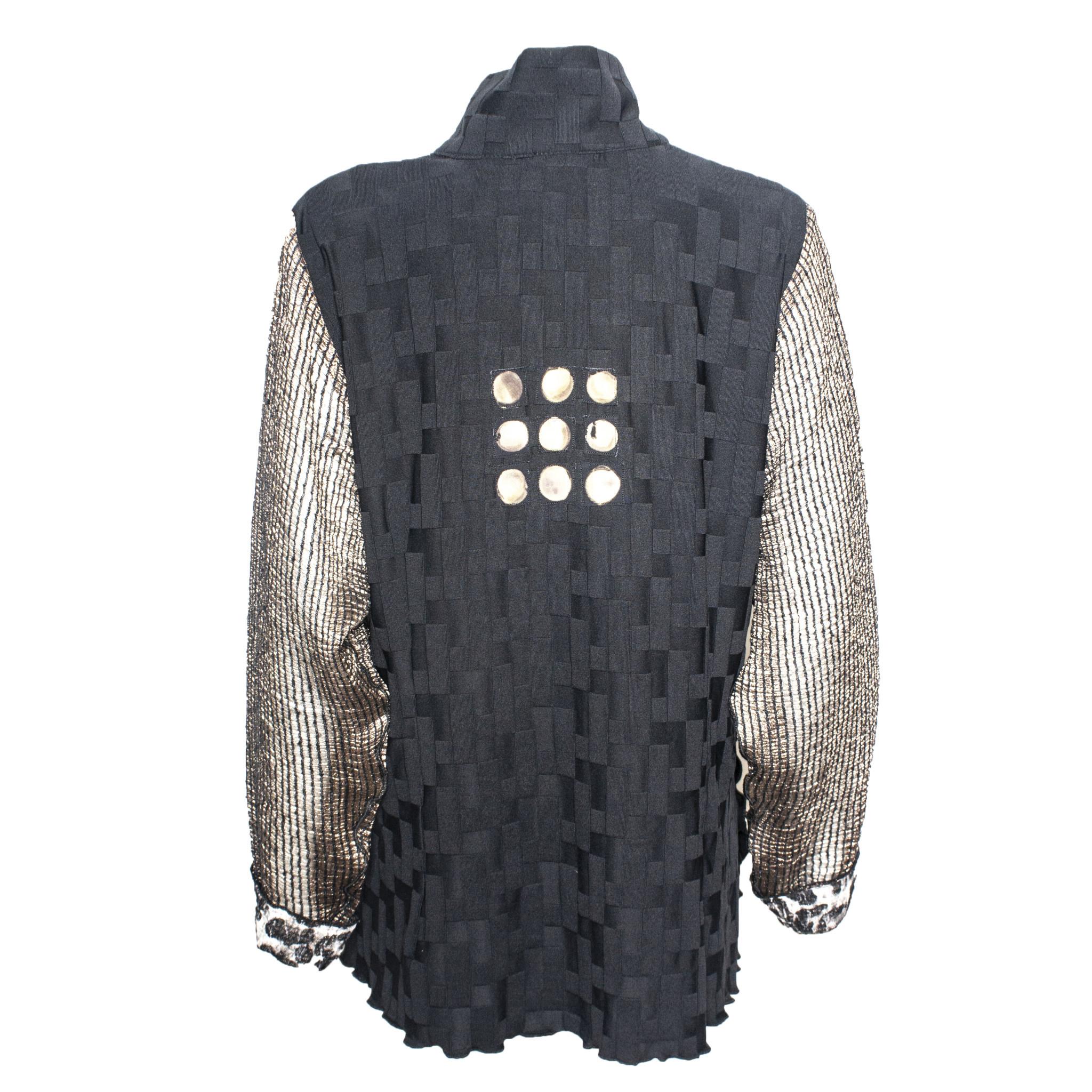 Deborah Cross Deborah Cross Sheer Sleeve Shirt - Black