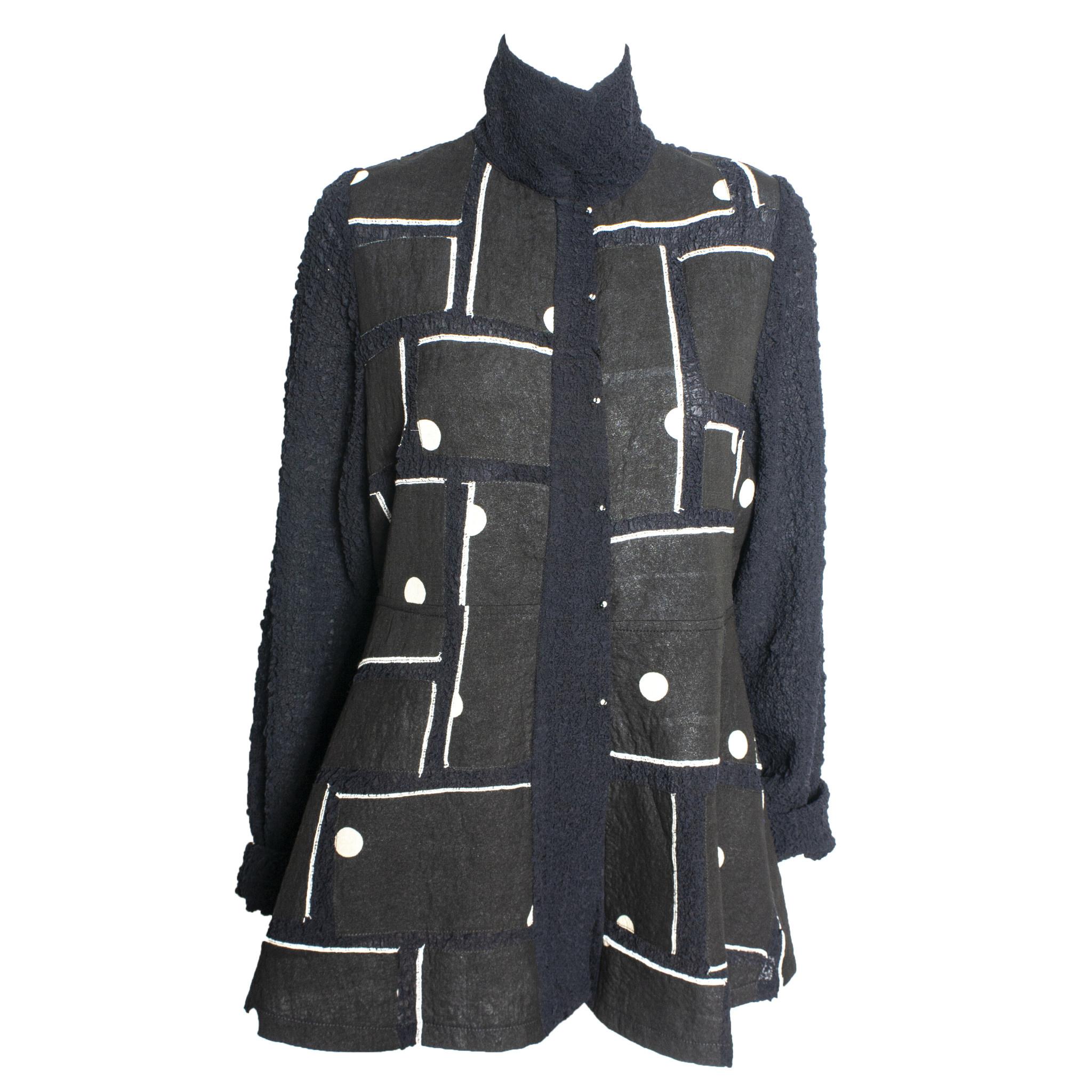 Deborah Cross Deborah Cross Block Scrunch Shirt - Navy/Black