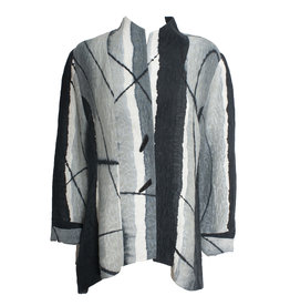 Kay Chapman Designs Kay Chapman Riding Silk Linen Jacket - Tan/Grey/White