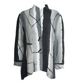 Kay Chapman Designs Kay Chapman Riding Silk Linen Jacket - Tan/Grey/White