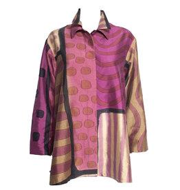 Kay Chapman Designs Kay Chapman Double Collar Jacket - Pink/Tan