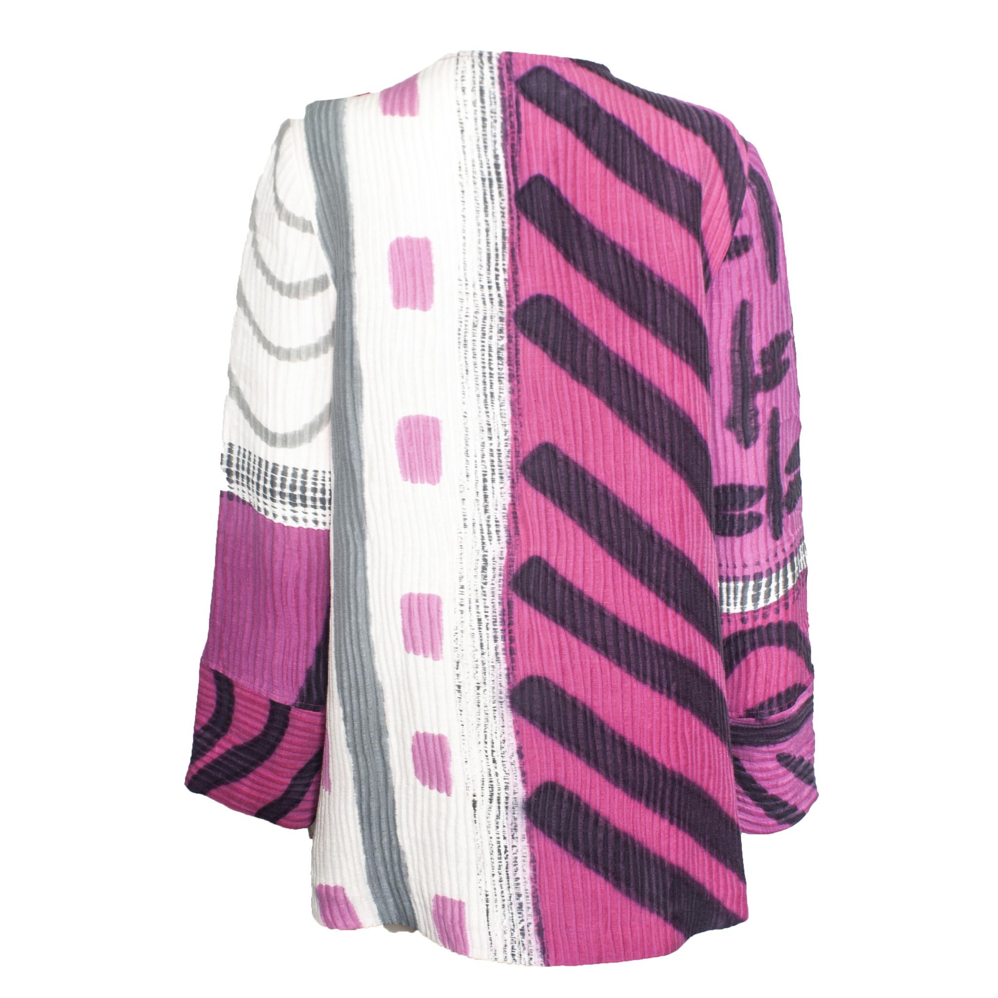 Kay Chapman Designs Kay Chapman Asym Jacket - Pink/White