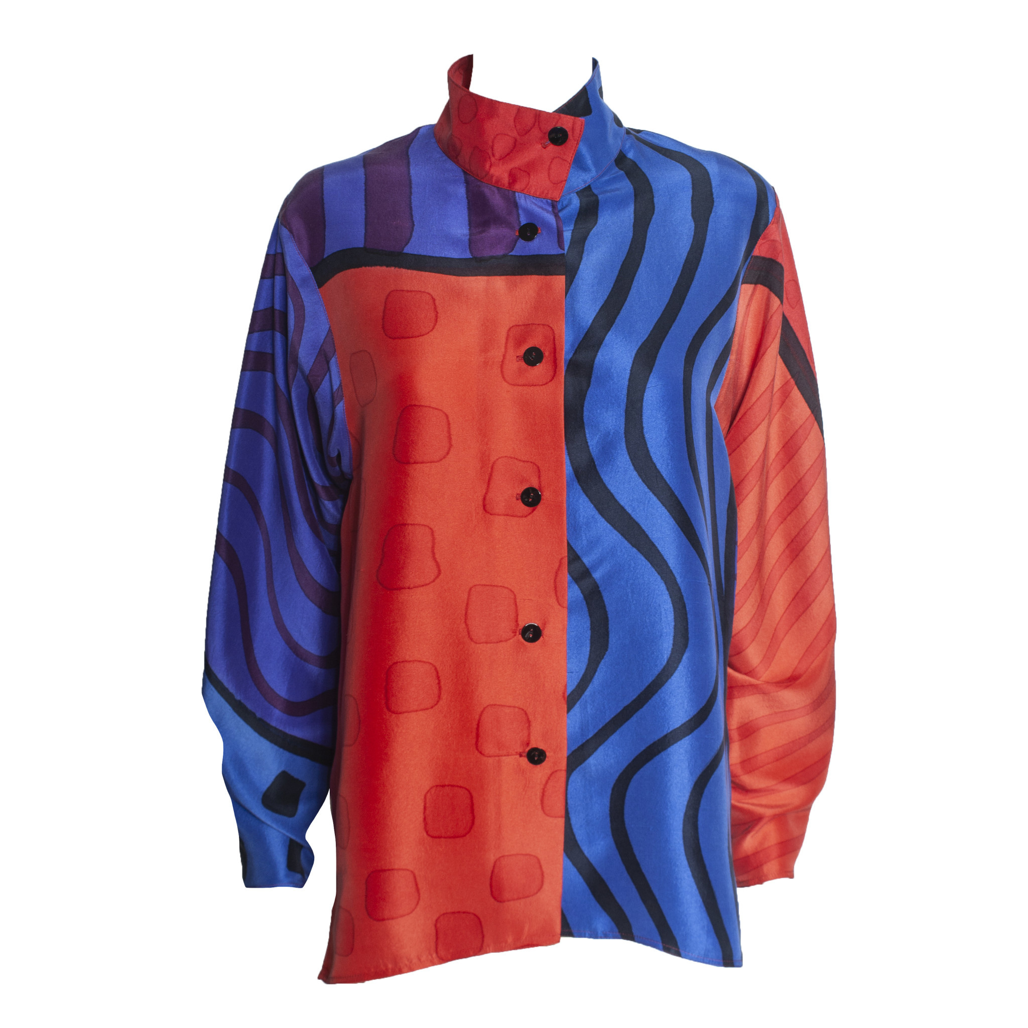 Kay Chapman Designs Kay Chapman Issey Patchwork Jacket - Red/Blue