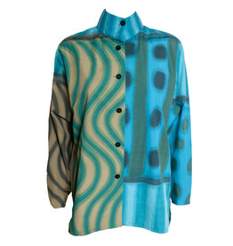 Kay Chapman Designs Kay Chapman Issey Cotton Jacket - Turquoise/Olive