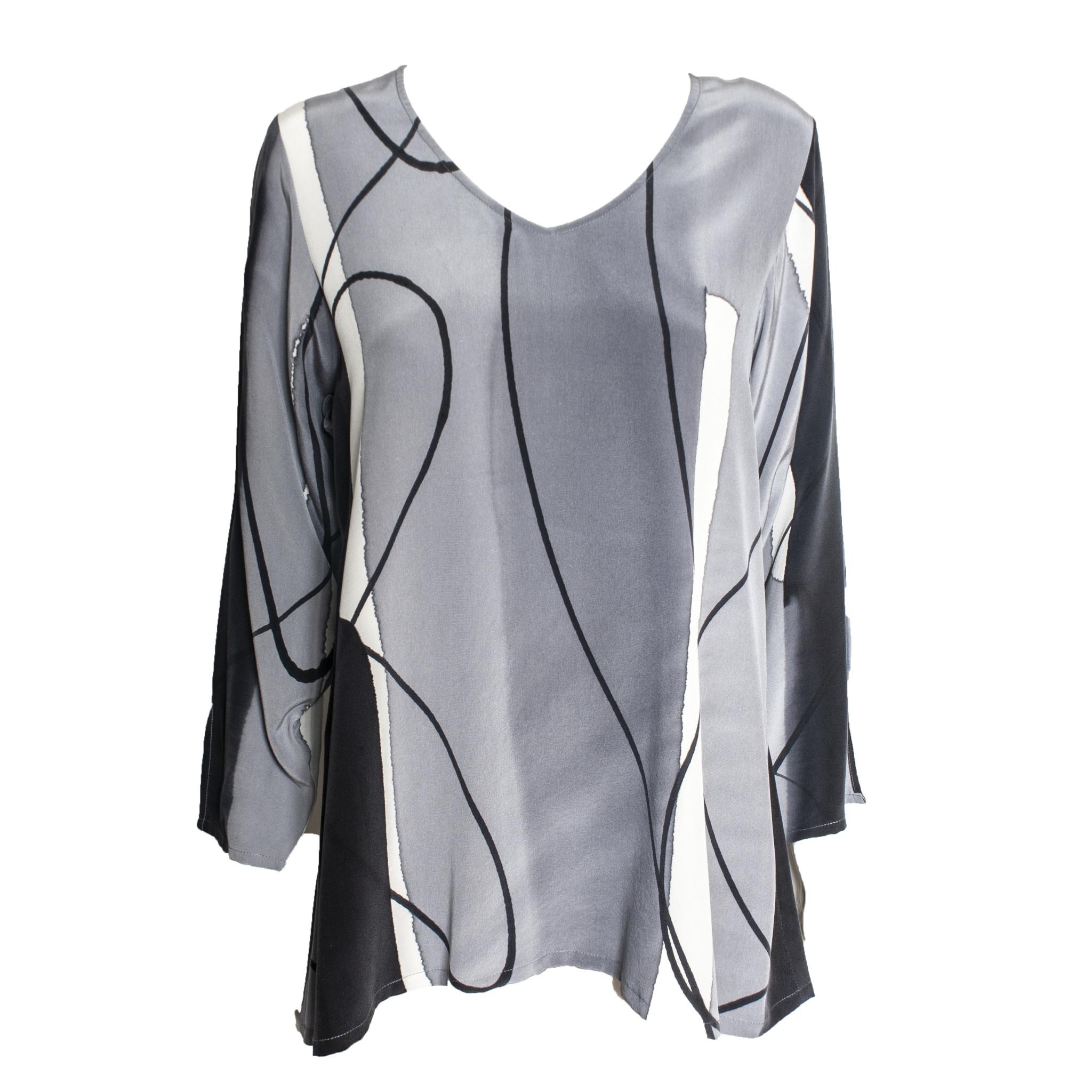Kay Chapman Designs Kay Chapman V Neck - Black/White/Grey