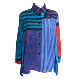 Kay Chapman Designs Kay Chapman Issey Cotton Jacket - Purple/Blue