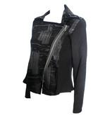Yoshi Yoshi Yoshi Yoshi Paint Stroke Zip Jacket - Black