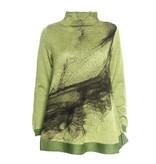 Yoshi Yoshi Yoshi Yoshi Wide Neck Print Pullover - Green