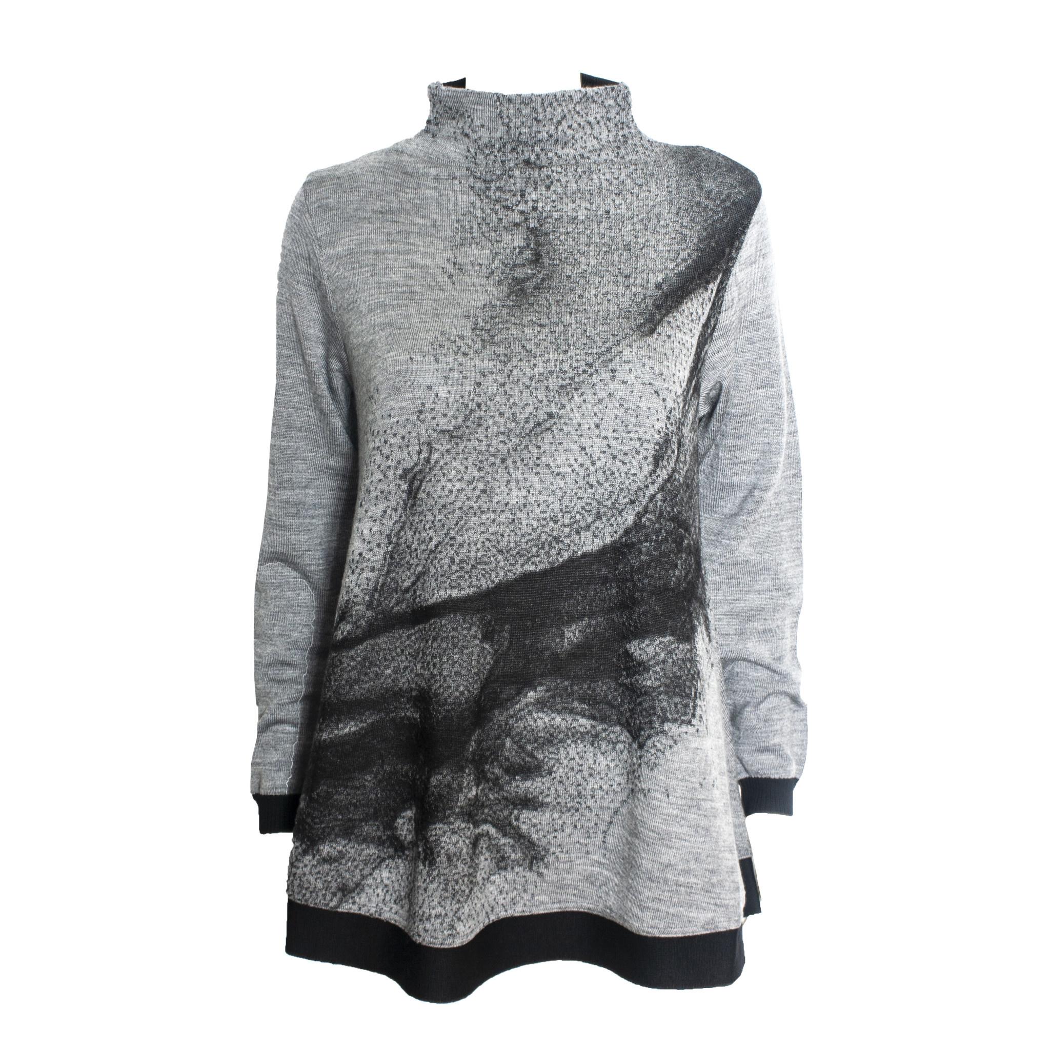 Yoshi Yoshi Yoshi Yoshi Wide Neck Print Pullover - Grey
