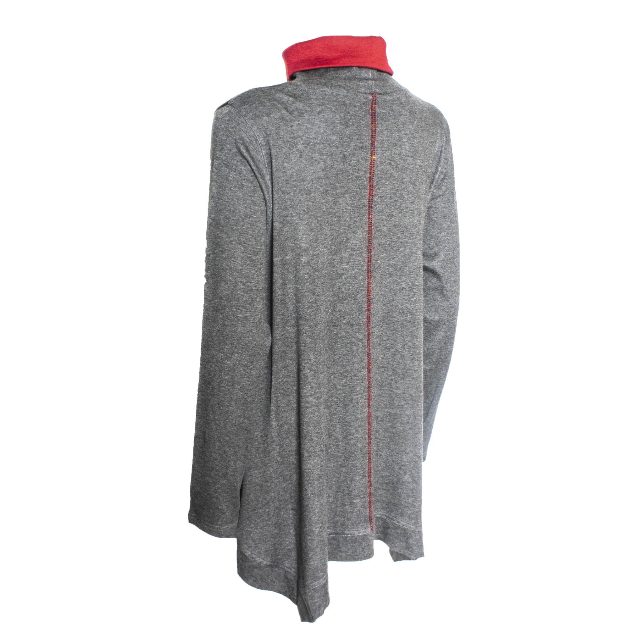 Yoshi Yoshi Yoshi Yoshi Dyed Print Pullover - Grey/Red