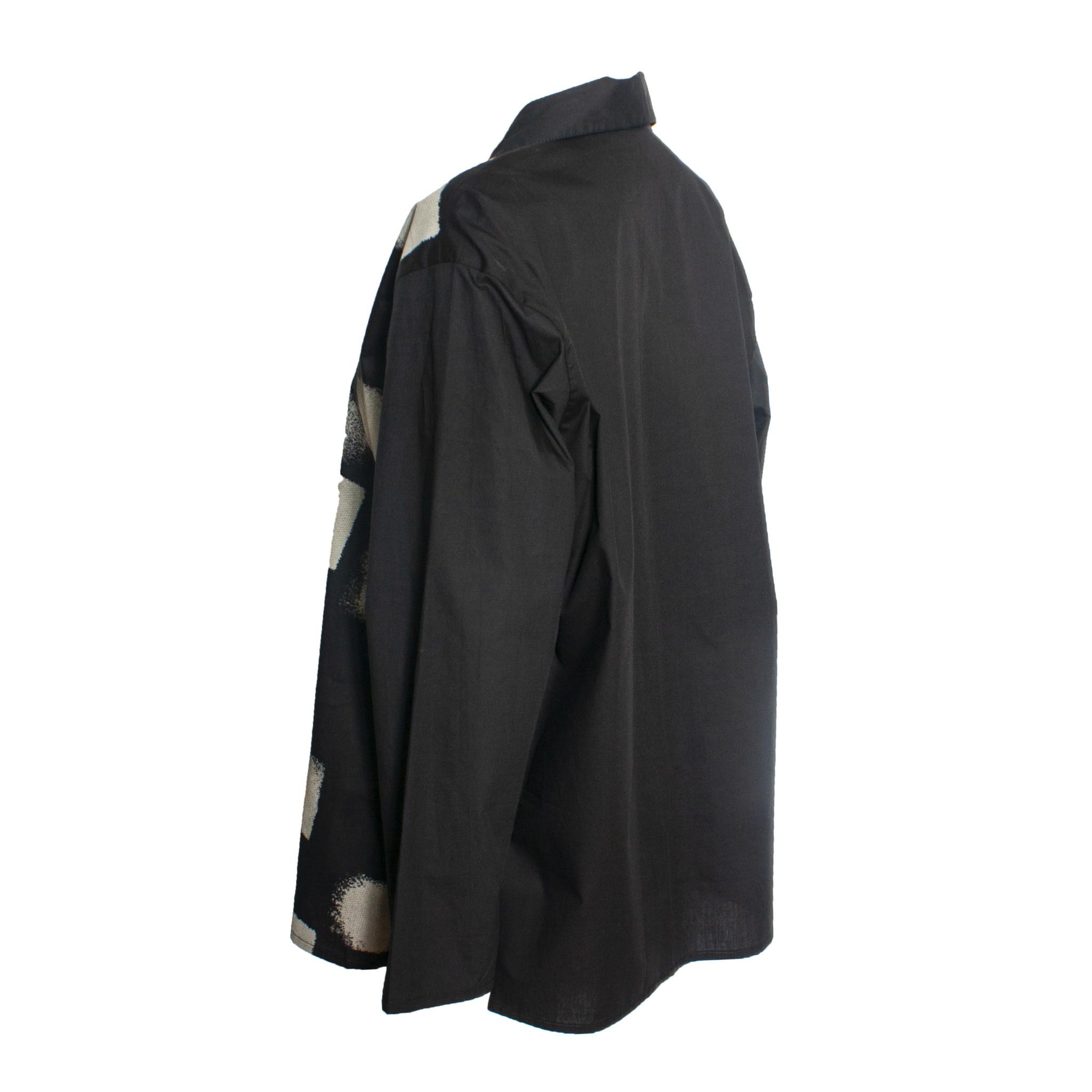 Xiaoyan Xiaoyan Collared Shirt -Black Tan Print