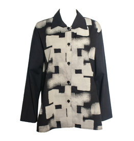 Xiaoyan Xiaoyan Collared Shirt -Black Tan Print