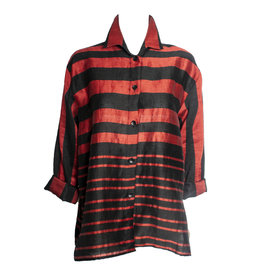 Xiaoyan Xiaoyan Stripe Shirt - Black/Red