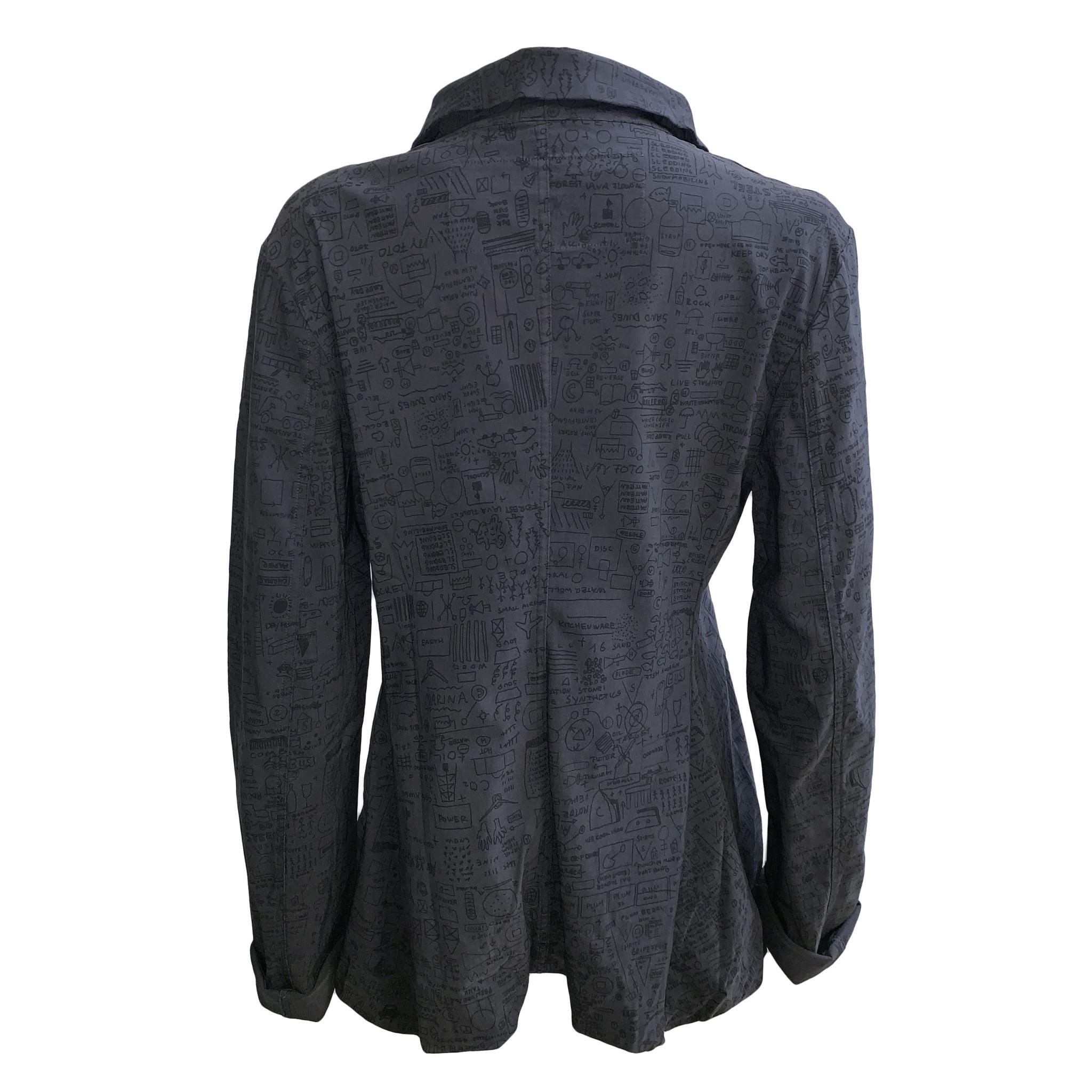 Studio Rundholz Studio Rundholz Dark Print Jacket - Grey
