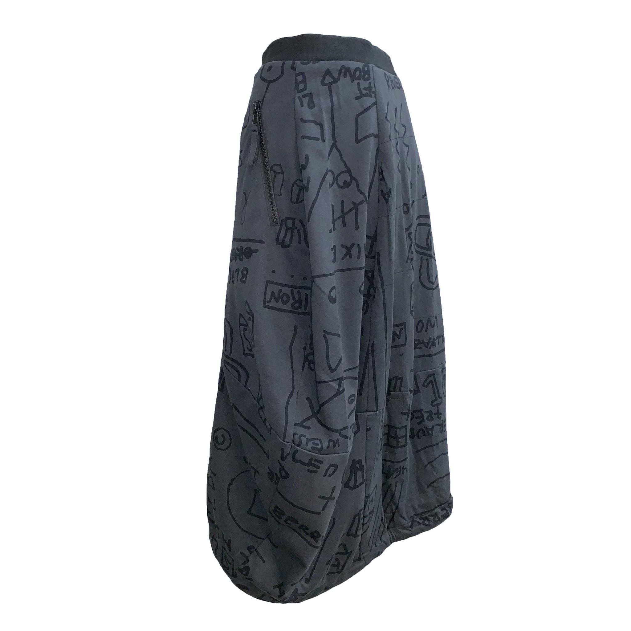 Studio Rundholz Studio Rundholz Print Skirt - Dark Grey