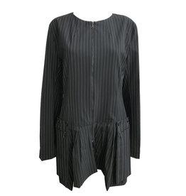 Matthildur Matthildur Gabardine Stripe Jacket - Black