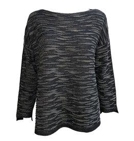 Matthildur Matthildur Pima Shimmer Sweater - Black/Grey