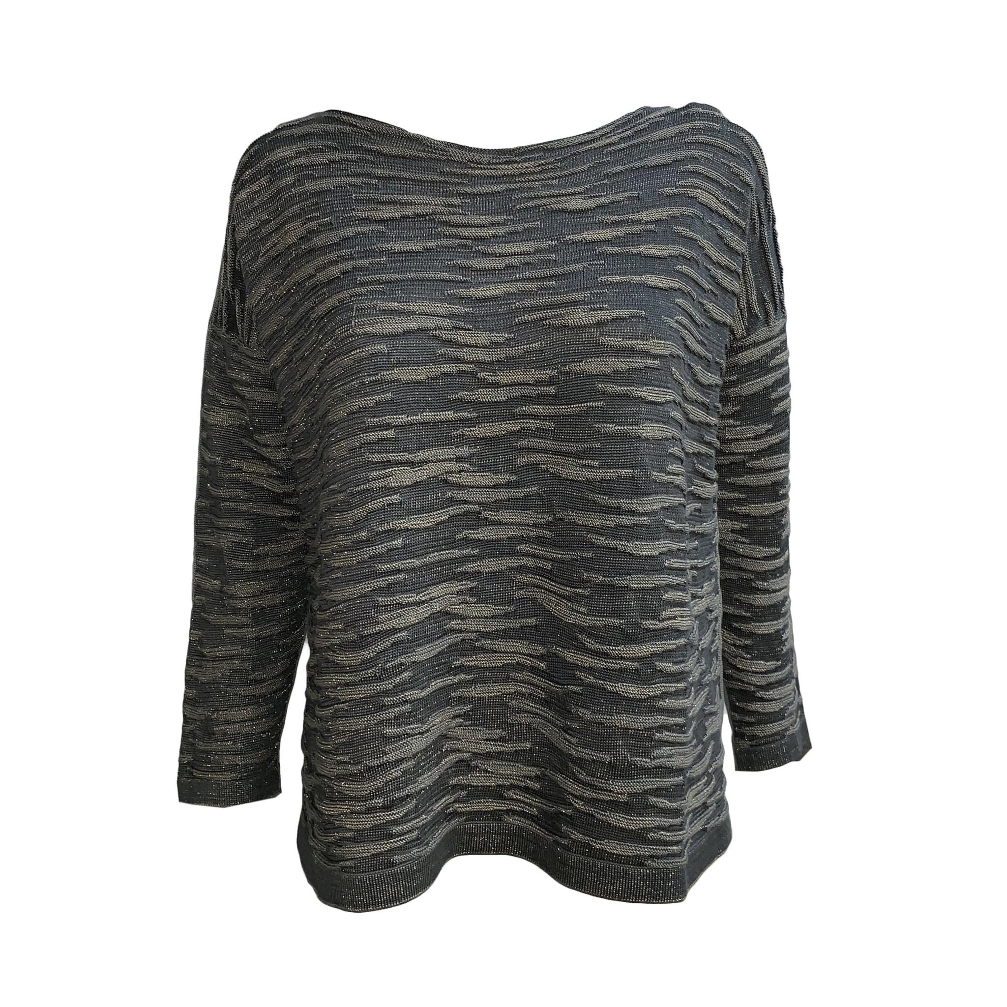 Matthildur Matthildur Pima Shimmer Sweater - Rain/Grey