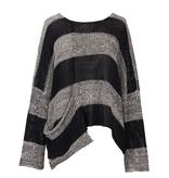 Alembika Alembika Scoop Neck Cotton Sweater - Grey