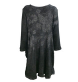 Dress to Kill Two Pocket Sweater Tunic - Salt Pepper