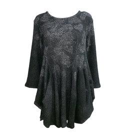 Dress To Kill Dress to Kill Two Pocket Sweater Tunic - Salt Pepper