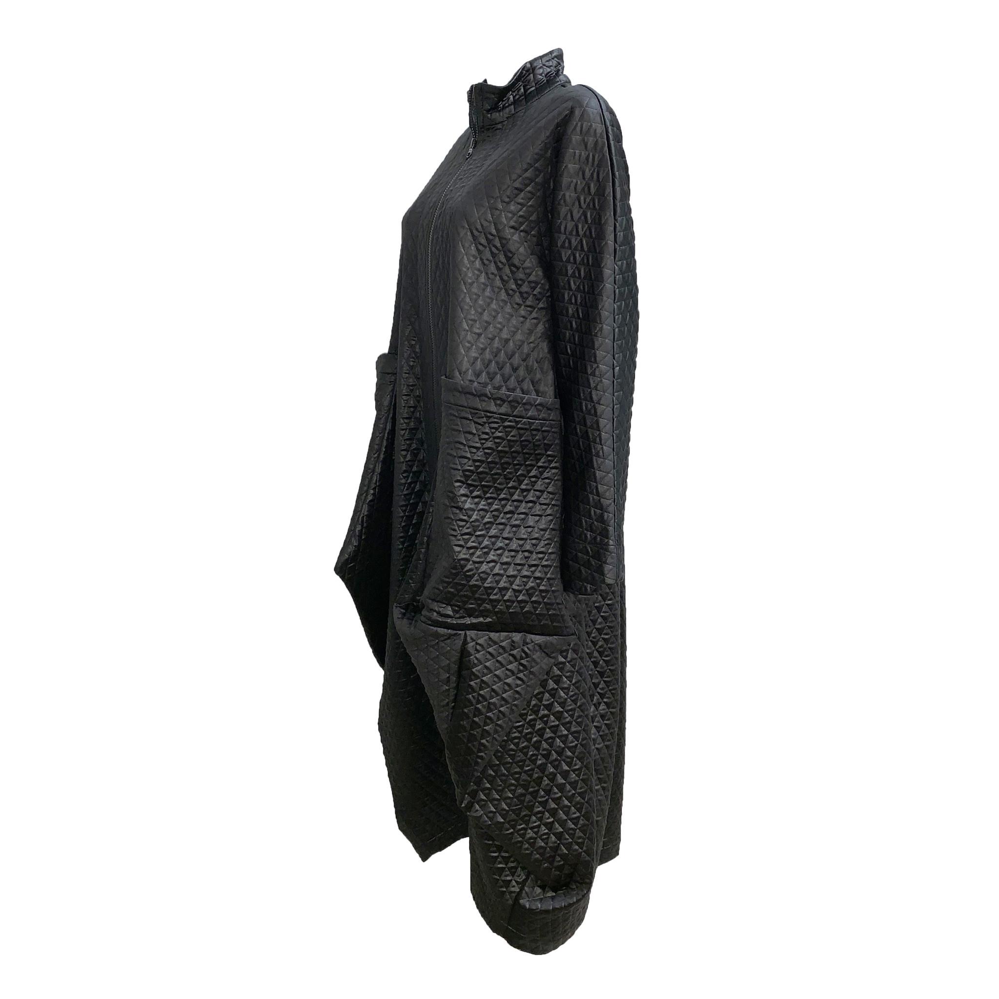 Amma Long Coat Dress - Black
