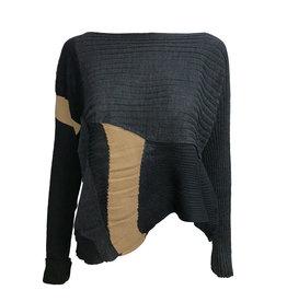 Crea Concept Crea Concept A-Semi Crop Pullover - Charcoal