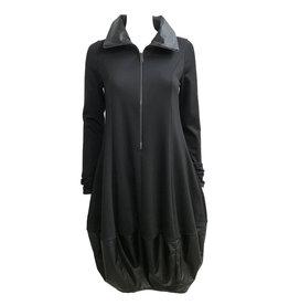 NY77 Design NY77 Design Zip Collar Tunic - Black