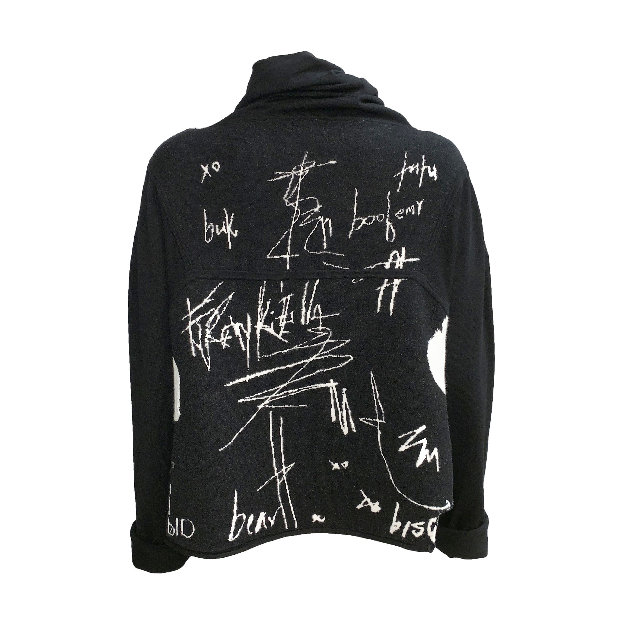 Banana Blue Banana Blue Graffiti Pullover - Black/White