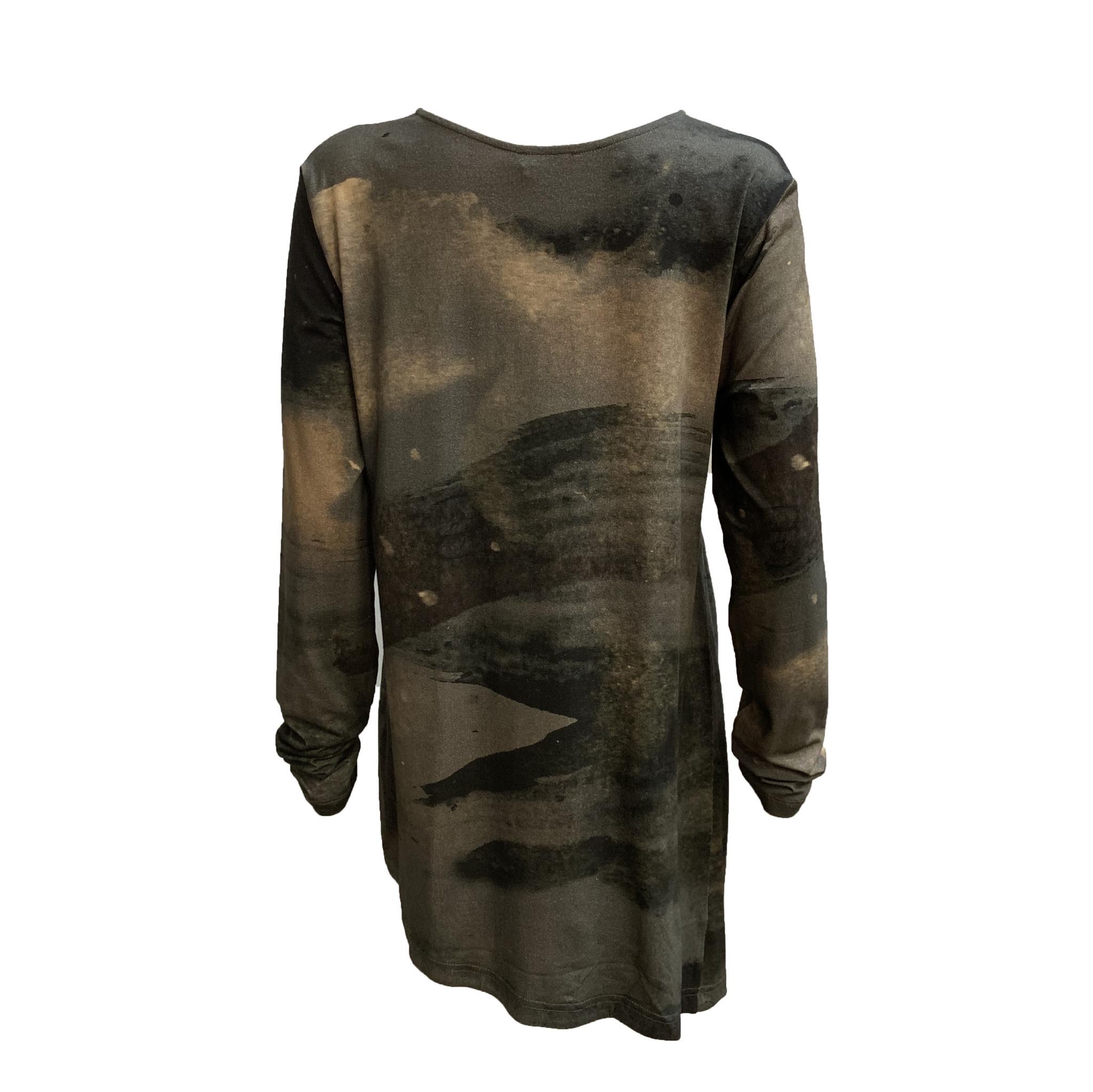 Crea Concept Crea Concept Long Sleeve Outland Print - Grey