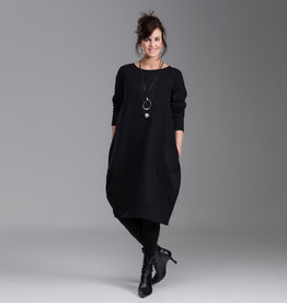 Fat Hat Fat Hat Spiral Dress-Black