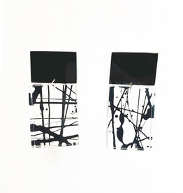 Laurent Guillot Paris Laurent Guillot Handpainted Earrings - Black/Clear