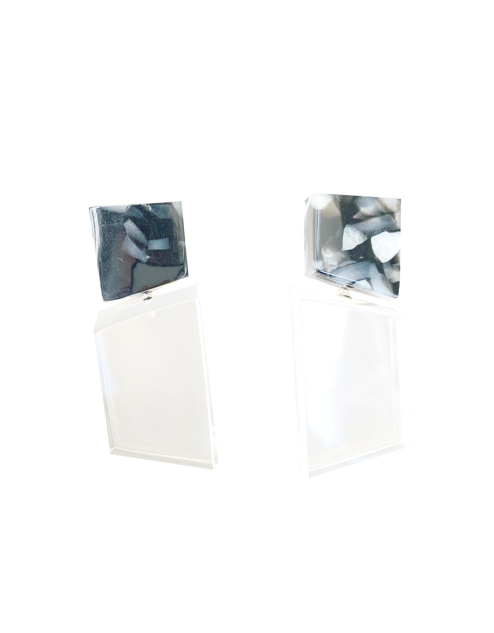 Laurent Guillot Paris Laurent Guillot Piano Key Earrings - Grey/Clear
