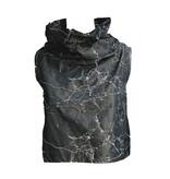 Sun Kim Sun Kim Wire Collar Crop Vest - Dark Grey Crack