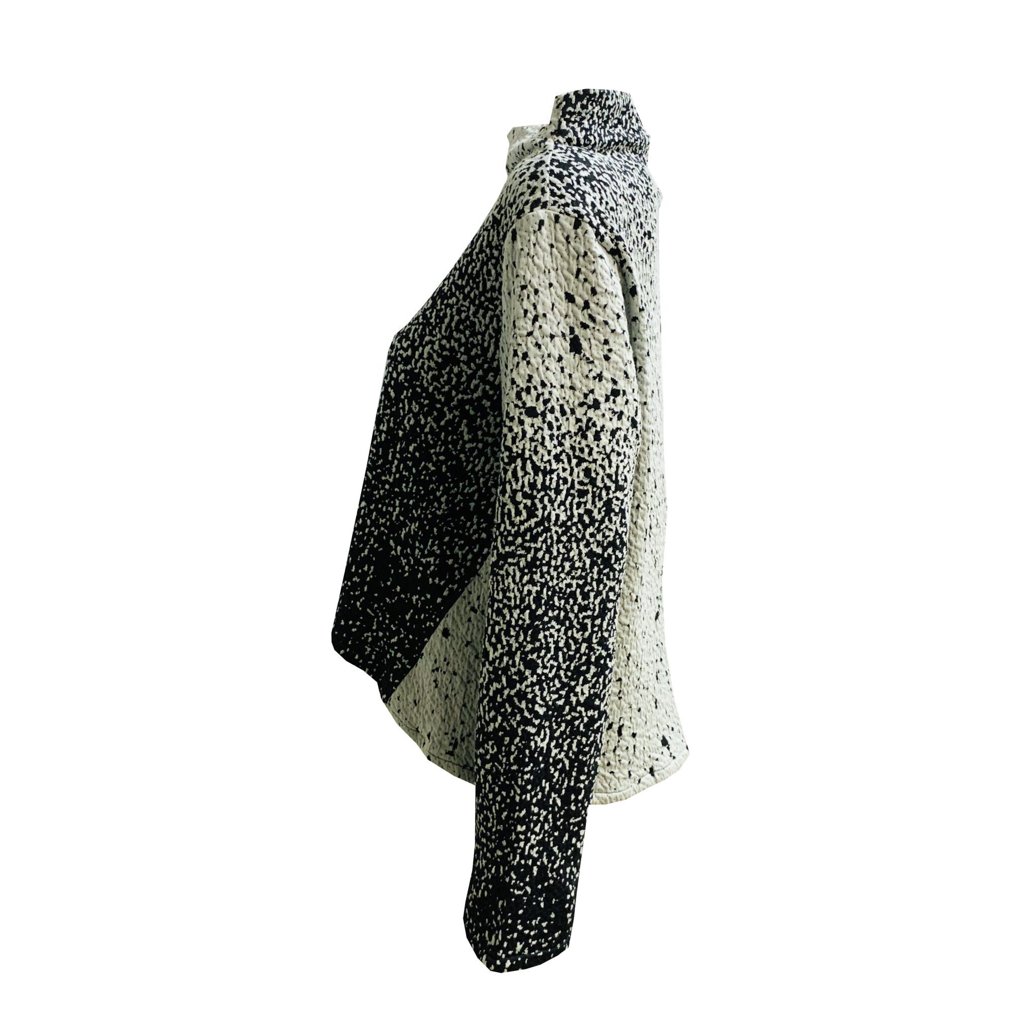 Kiyo KIYO Speckle Mock Neck Top - Mint/Black