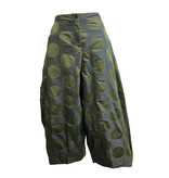 Sun Kim Sun Kim 2 Pocket Ankle Pants - Olive Dot