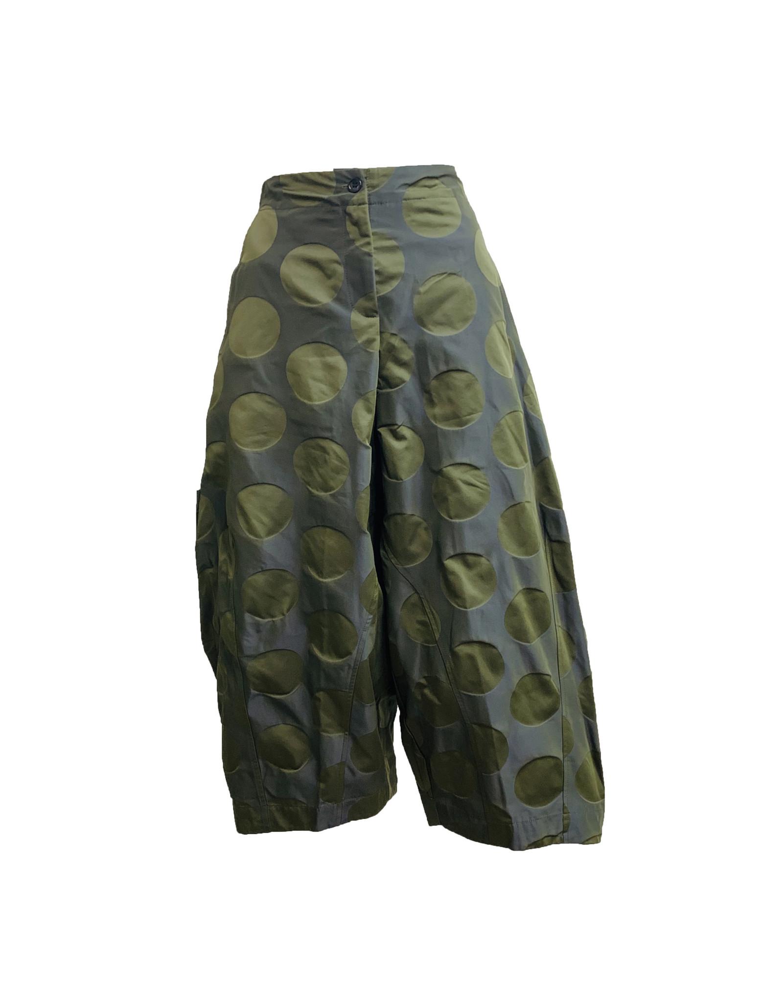 Sun Kim Sun Kim 2 Pocket Ankle Pants - Olive Dot