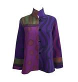Kay Chapman Designs Kay Chapman Loop Button Jacket - Purple/Olive/Rust