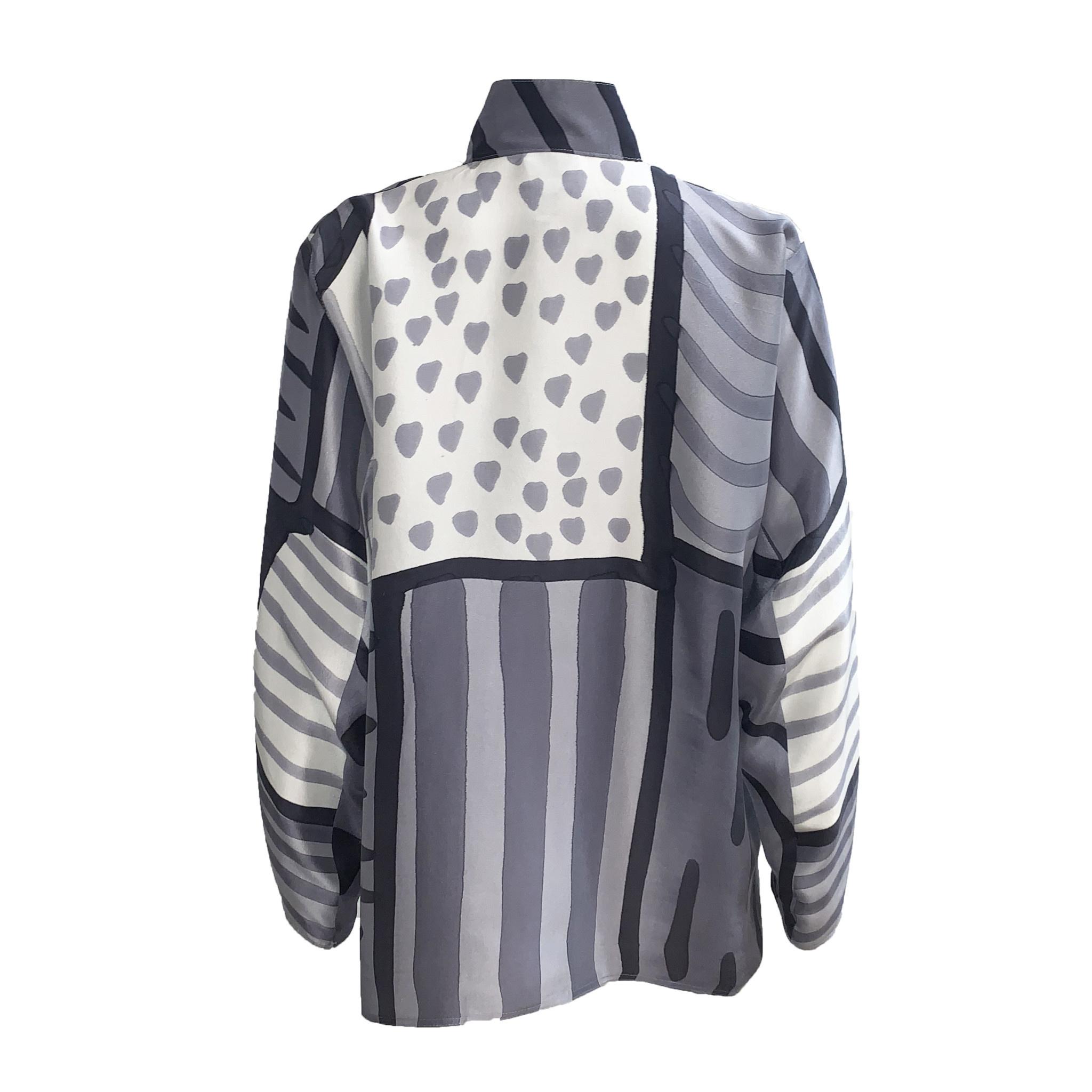 Kay Chapman Designs Kay Chapman Issay Patchwork- White/Grey/Black