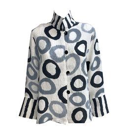 Kay Chapman Designs Kay Chapman Loop Button Jacket - White/Grey/Black