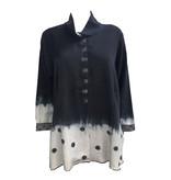 Deborah Cross Deborah Cross Long Front Jacket - Black/White