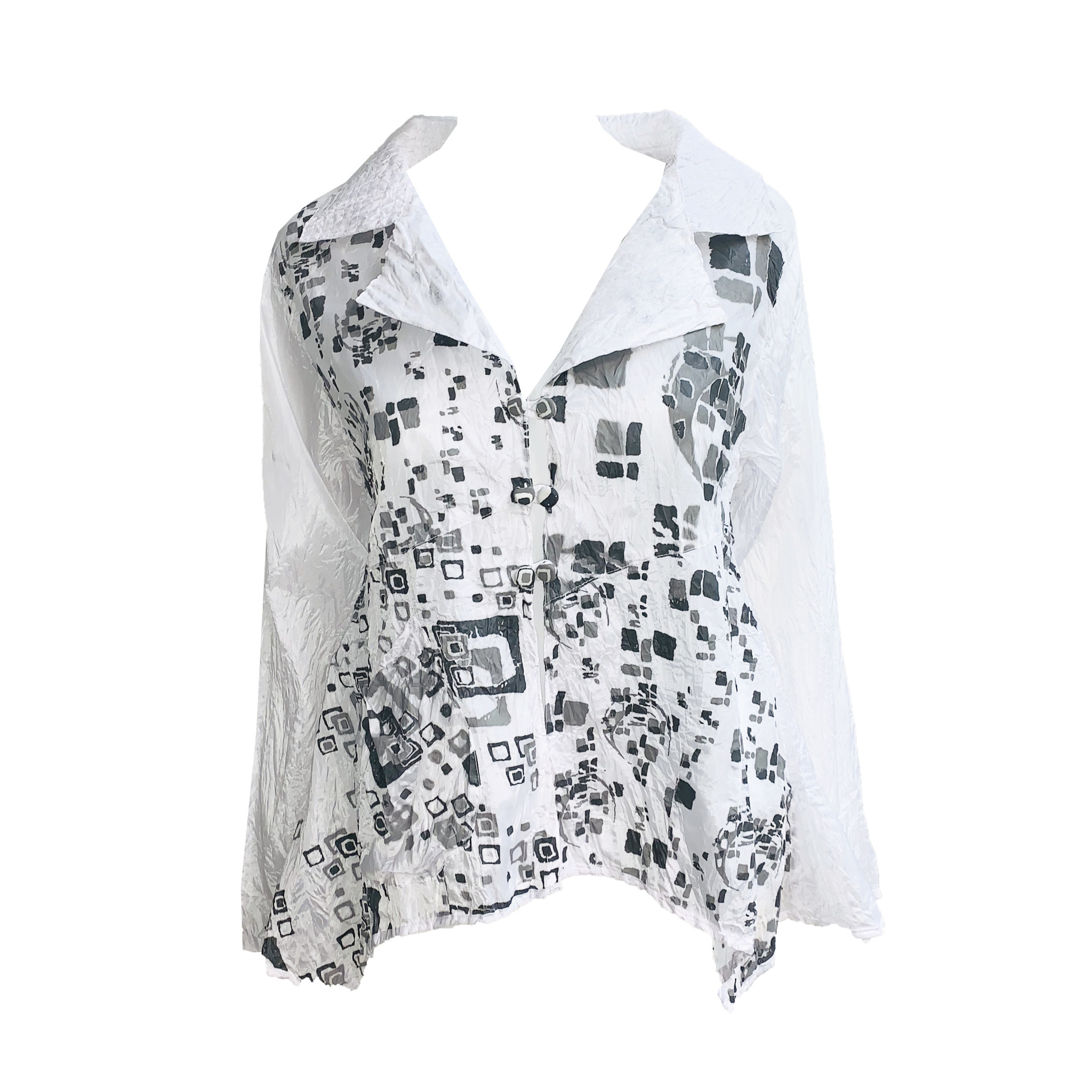 Harubella Harubella Short Flare Jacket - Moon Square Graphic
