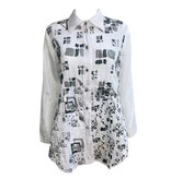 Harubella Harubella Buttoned Shirt Jacket - Moon Square Graphic