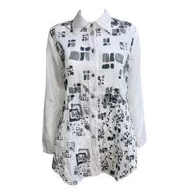 Harubella Harubella Buttoned Shirt Jacket - Moon Square Graphic