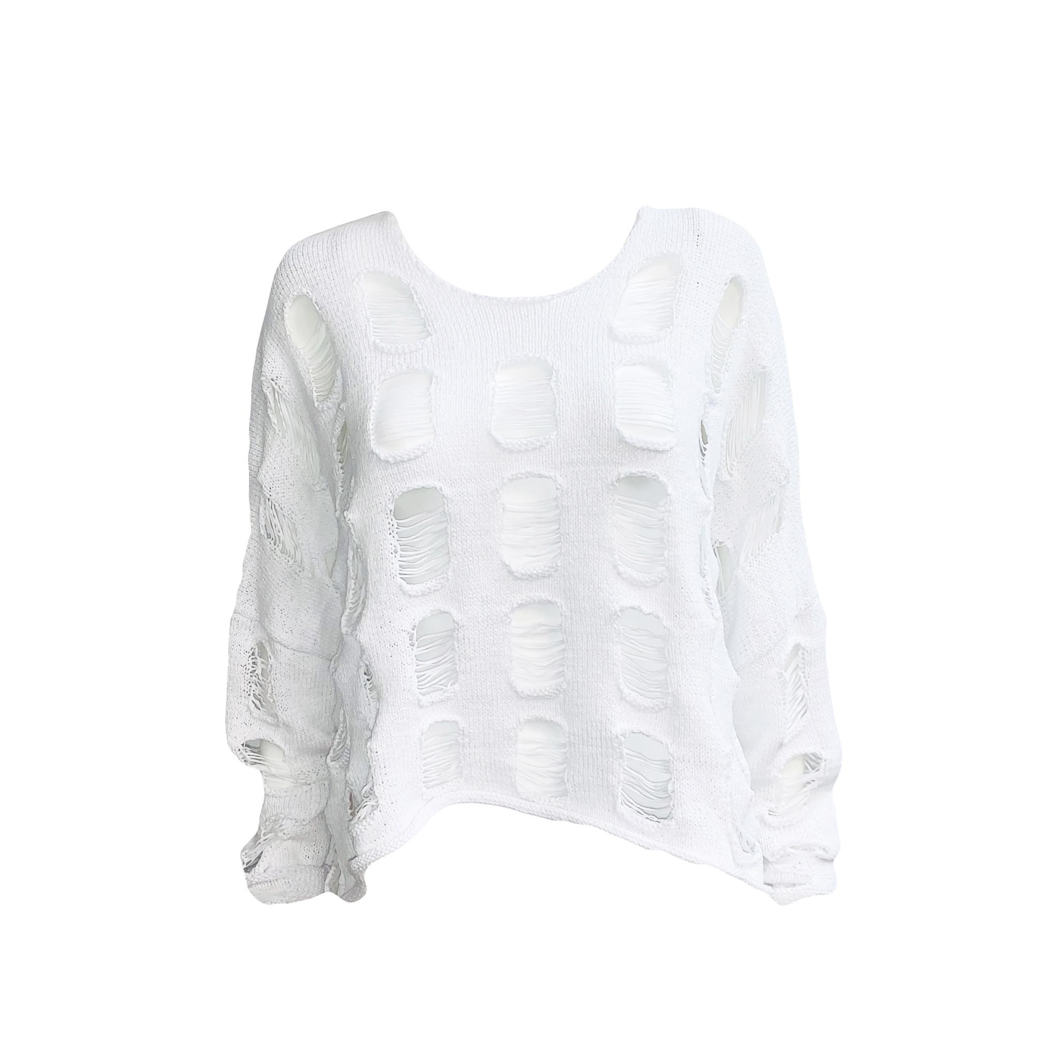 Studio Rundholz Studio Rundholz Distressed Sweater - White