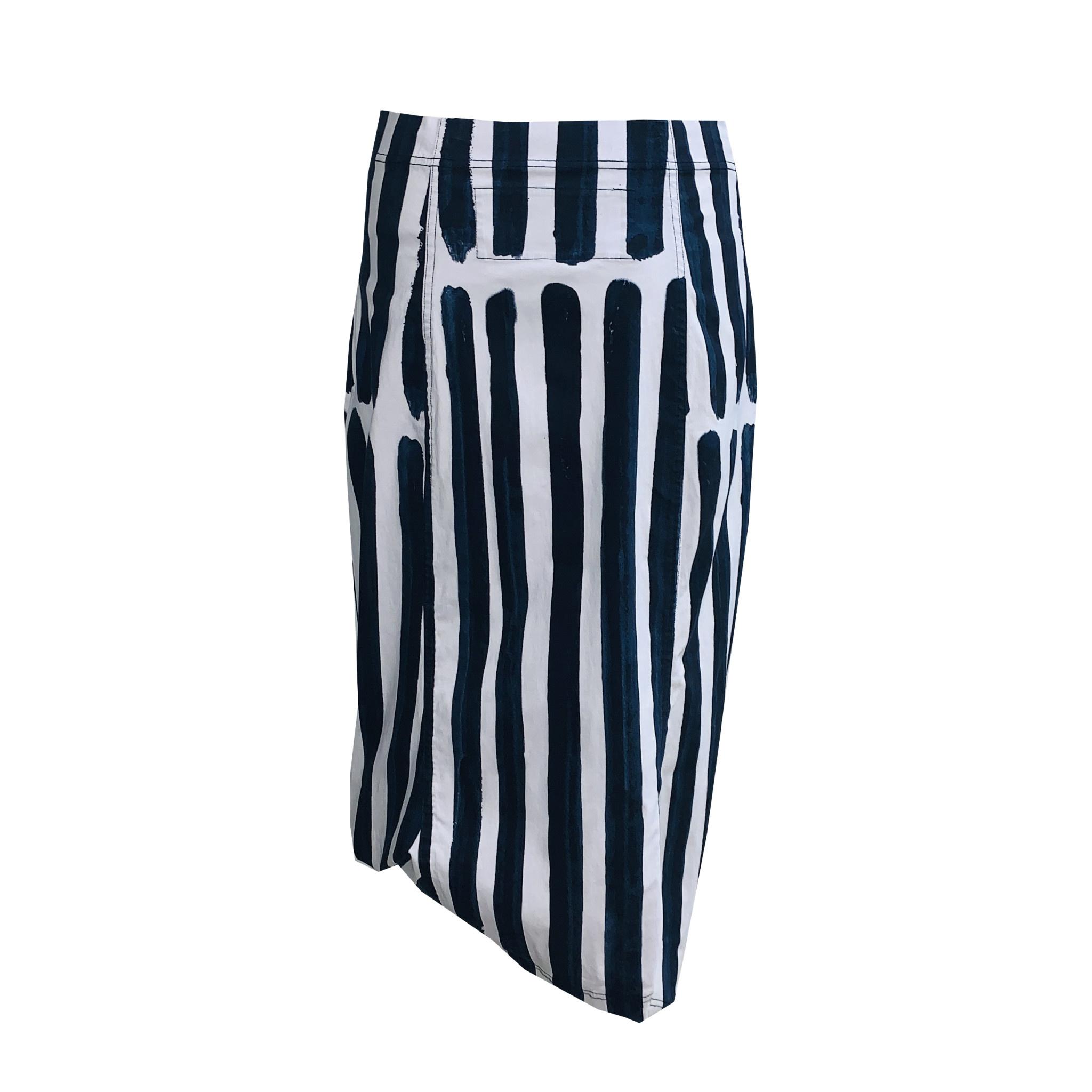 Studio Rundholz Studio Rundholz Print Skirt - Blue Stripe