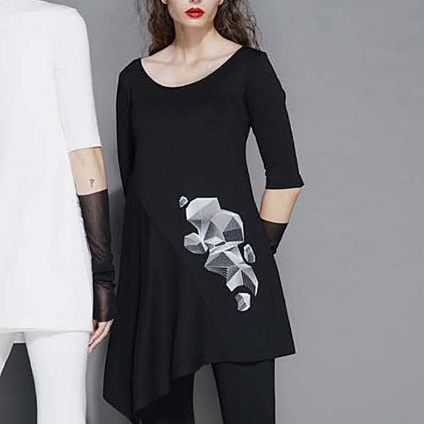 Xenia Xenia Glad Top-Black/White