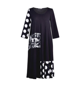 Alembika Alembika Mixed Media Dress-Black