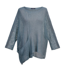 Alembika Alembika Scoop Neck Sweater-Sky